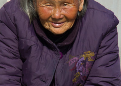 Old Lady in Purple