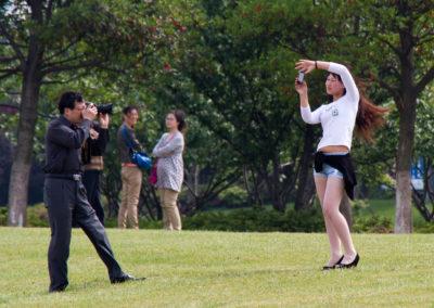 Posing and shooting