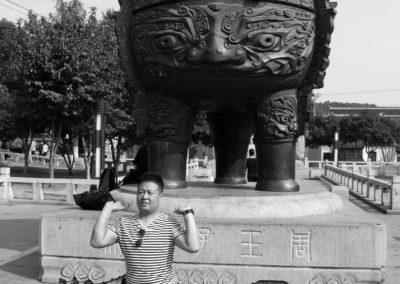 Posing Man and Pot