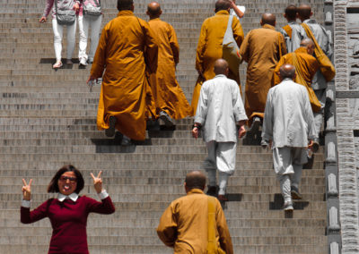 Monks and Girl
