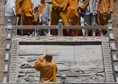 Monks at Lingshan