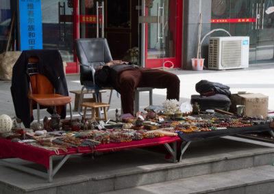 Antique Seller at Rest